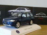 ATLAS EDITIONS MUSEUM SAAB 97 9-7 X AERO 2005 BLUE CAR MODEL LM28 1:43