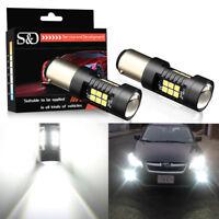 2x White LED 1157 BAY15D 21SMD 1200Lm P21/5W Car Reverse Tail Light Bulbs 12-24V