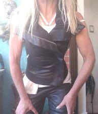Rick Owens Leather Vest sz IT 40