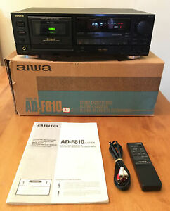 Aiwa AD-F810U Dolby HX Pro Stereo Cassette Deck NEW BELTS With Remote And Manual