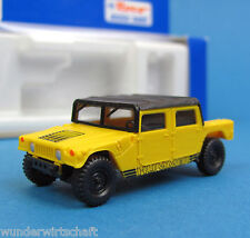Roco H0 1734 GM HUMMER H1 ZIVIL Soft Top Geländewagen Gelb Humvee civil HO 1:87