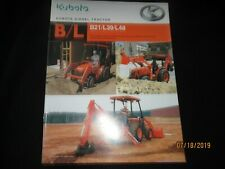 Kubota Diesel Tractor Bl B21 L39 L48 Brochure Factory Original Oem 2005