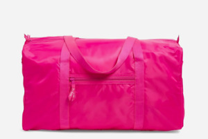 NEW NWT Vera Bradley PEONY PINK travel PACKABLE DUFFEL lightweight FREE SHIP