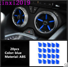 20x blue ABS Interior Air Vent Outlet Cover Trim for Chevrolet Camaro 2016-2018