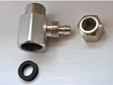 White Bidet T- Metal Connector/Adaptor Warm & Cold Water Bidet (Shatafa)