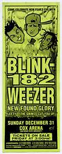 Blink 182 Weezer New Found Glory Original 2000 Concert Handbill / Flyer - Early