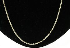 14k Yellow Gold 1.8mm Rope Chain Necklace 20 Inches Long