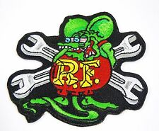 RAT FINK R.F. w/Wrenches Iconic Embroidered Iron-On Patch - 3 1/2""