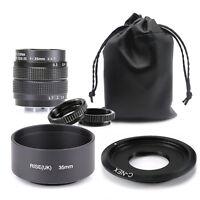 Fujian 35mm f/1.7 CCTV cine lens for Sony NEX E-mount camera & Lens Hood & Bag