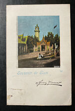 1900 Bangkok Thailand Picture Postcard Cover To Welzen Germany Siam Souvenir