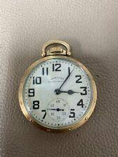 10K Gf 16s 21j Blemished Dial New listing Hamilton 992B Pocket Watch Railway Special
