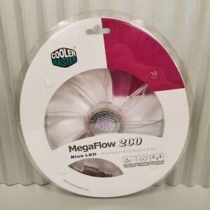 Cooler Master Mega Flow 200 Blue LED Transparent Silent Fan New In Package