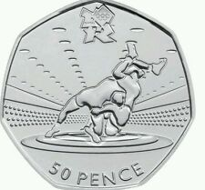 Londra Estate OLIMPIADI 2012 29/29 WRESTLING 50P MEDAGLIA 2011 UNCIRCULATED C