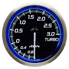 DEFI 52MM RACER TURBO 3 BAR GAUGE N2 BLUE