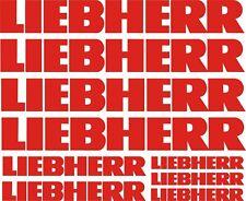 LIEBHERR 9x Aufkleber FAHRZEUG. VEHICLE STICKER DECAL