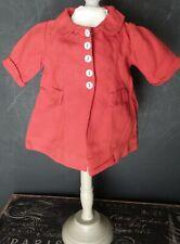 Vintage! Tailored Orange Jacket Pocket flaps for Composition & Hard Plastic Doll