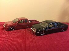 Hot Wheels Lot of 2 Nissan Titan Black And Red Diecast Truck Loose 1:64