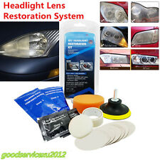 14 Pcs Portable Vehicles Off-Road Headlight Lens Restoration System Repair Tool