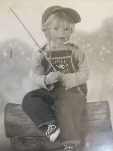ASHTON DRAKE~JULIE FISCHER~LITTLE FISHIN BUDDY DOLL~rare~NEVER REMOVED FROM BOX