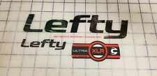 Sticker Decal Set for Cannondale RZ120 2 Lefty XLR WHITE FORK Distressed