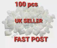 100 x Girls Heart Shaped Fabric Petal Wedding Supplies Table Bed decor Basket