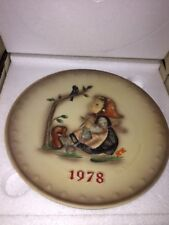 Vintage 1978 Goebel Hummel #271 Tmk5 Annual Plate 7.5� Happy Pastime In Box