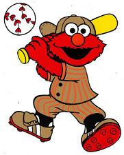 Elmo Baseball - 8 x 10 - T Shirt Iron On - Customize Jersey color