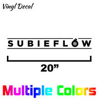 Subieflow Decal - Subaru Windshield Banner Sticker STI WRX Forester