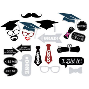 DIY Creative Photo Booth Props Kit Graduation Party Decorations