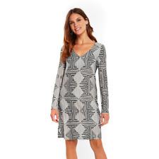 Wallis Monochrome Geometric Swing Dress Size UK 16 Dh181 II 09