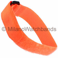20mm Kreisler Sport Strap Neon Safety Orange Waterproof Watch Band