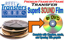 REEL TRANSFERS - Super 8 Sound film converted to DVD  - True Frame-by-Frame