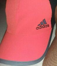 Adidas adizero Adjustable Run Hat Orange Black Adult one size cap Great shape