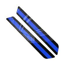 Saddlebag Latch Reflector Insert Decals for 2014 Harley Touring BLUE LINE POLICE