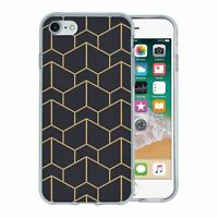 For Apple iPhone 8 Silicone Case Geometric Abstract - S6130