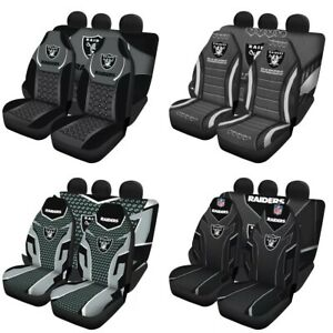 Las Vegas Raiders Auto Seat Covers Car Truck SUV 5 Seater Front Rear Protector