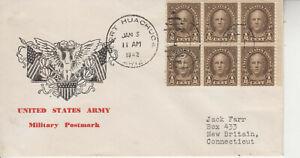 WW2 PATRIOTIC  JAN 5 1942 U.S.ARMY EAGLE/FLAGS FORT HUACHUCA ARIZ. FANCY CANCEL