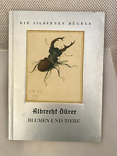 1936 German Art Book Duerer Animals & Flowers Vintage Silver Edition