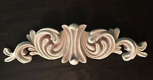 ORNATE SCROLLED WALL PLAQUE / BED CROWN