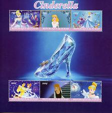 Chad 2017 MNH Cinderella 6v M/S Disney Cartoons Stamps