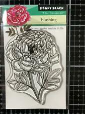 New Penny Black Rubber Stamp clear BLUSHING  FLOWER BLOOM  free USA ship