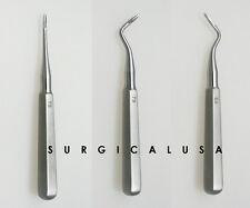 Kit of 3 Root Tip Elevators #78 79 80 Dental Instruments Dentist Tools