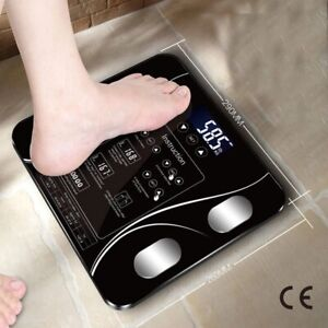 Smart Household Weighing Scale USB charging LED Digital English Function Screen