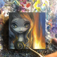 Tiny Treasure 168 Jasmine Becket-Griffith ORIGINAL PAINTING big eyes fairy art