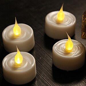 Set Of 4 Tea Lights With 5 Hour Timer