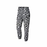 Nike Men's Big Swoosh White Black Woven Pants AO0863-100 WHITE/BLACK