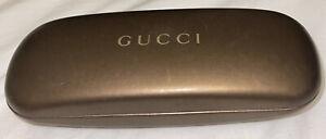 Gucci Bronze Hard Clam Shell for Sunglasses Eye Glasses Case