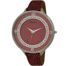 Henley Glamour Ice Diamante Crystal Pink Strap Ladies Fashion Watch H06030.5
