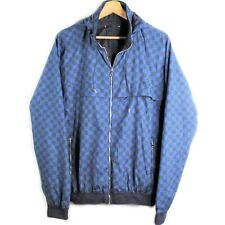 Authentic Louis Vuitton Blue Damier Reversible Windbreaker Jacket Men's Size 50