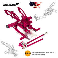 For Honda CBR600RR 03-06 CBR1000RR 04-07 Adjust Red Rear Sets Foot Pegs Rearsets